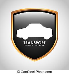 transport signal design, vector illustration eps10 graphic