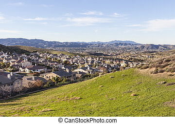 Suburban Fields, Hills and Homes