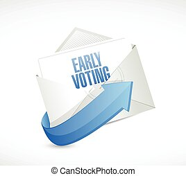 early voting envelope mail
