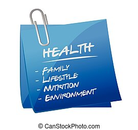 health key essentials memo post illustration design over a...