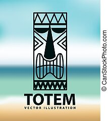 totem icon design, vector illustration eps10 graphic