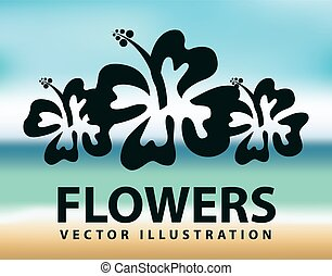 flowers design, vector illustration eps10 graphic