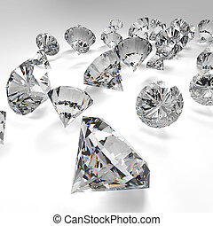 diamantes, ligado, branca, background, ,