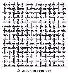maze game illustration isolated on white background