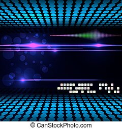 Blurry glowing neon circle light effect background Vector...
