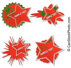Set of Stylish grunge bubbles stickers.