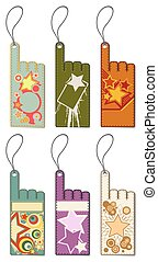 Set of colorful price tags.