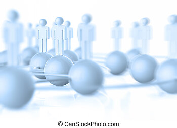 3d white human social network as concept