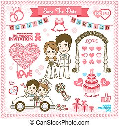 Save the date Vector and illustration