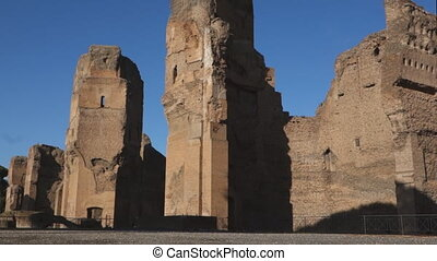 Caracalla baths in Rome - Caracalla baths, ancient Roman...