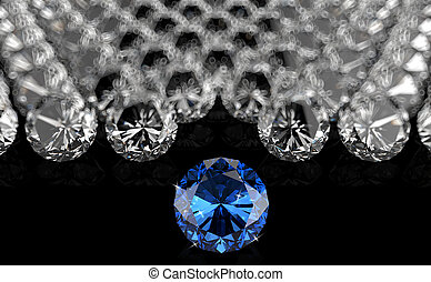 diamonds as leadership - diamonds on black background