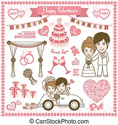Happy Valentine Card. Vector and illustration