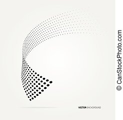 Vector halftone dots - Vector halftone dots abstract...