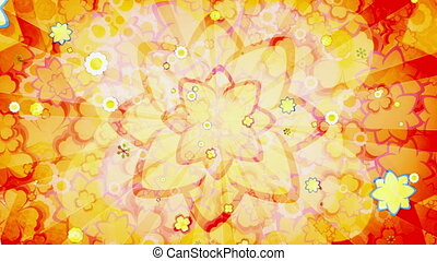 Retro flowers Mash up Loop - Animated Retro flowers Mash up...