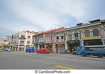beautiful building at chinatown, singapore, city