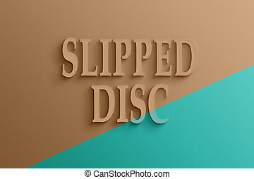 3d text of slipped disc - 3D text on the wall, slipped disc