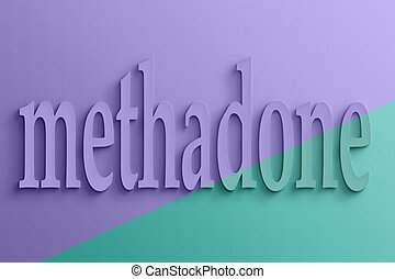 text of methadone - 3D text with shadow and reflection,...