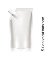 blank foil food or drink packaging