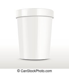 blank food plastic container isolated over white background