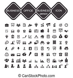 business office and business person icon
