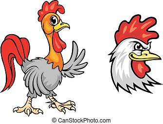 Cartoon colorful roosters - Cartooncolorful roosters...