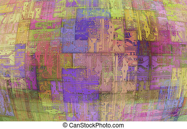 abstract computer background - printed circuit - Image of...