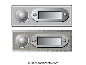 vector doorbells - Vector illustration of the doorbells