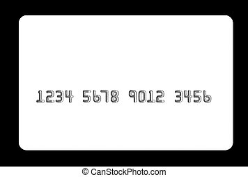 Bank card - White bank card on black background Useful in...