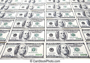 Hundred Dollar Bills Background