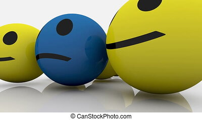 Smileys in yellow and blue color