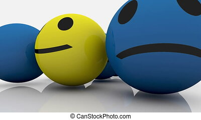 Smileys in blue and yellow color