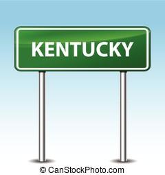 kentucky green sign - Illustration of kentucky green metal...