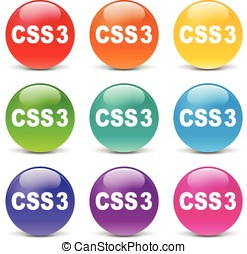 css icons - collection of icons of different colors for css