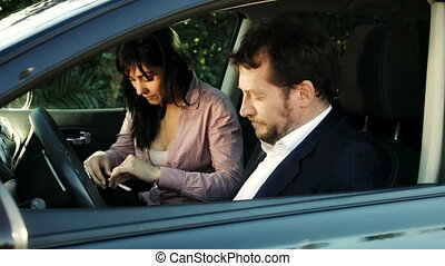 people in car sniffing drug cocaine - Cool business people...