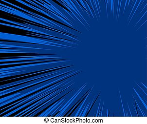 Abstract Blue Burst Background