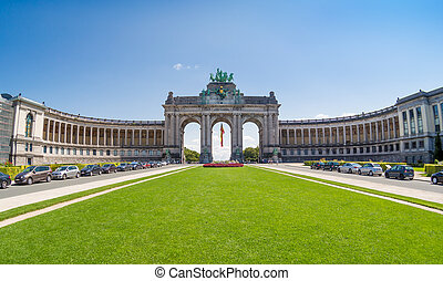 The Triumphal Arch in Brussels, Belgium - The Triumphal Arch...
