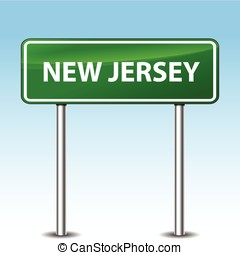 new jersey green sign - Illustration of new jersey green...