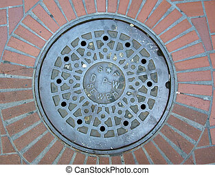 Manhole Cover in San Francisco, CA - Manhole cover in...