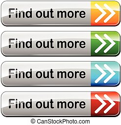find out more buttons - illustration of find out more...