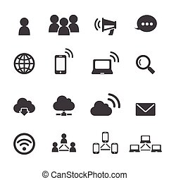 communication and network icon