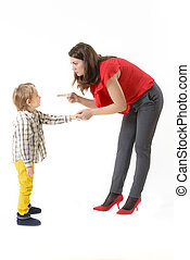 Childhood Days - Mother disciplining her child