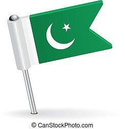 Pakistani pin icon flag. Vector illustration Eps 8.
