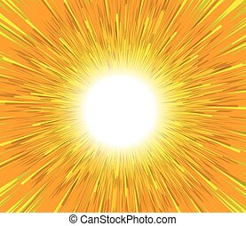 Bright Sunbeam Background - Abstract Bright Sunburst Effect...