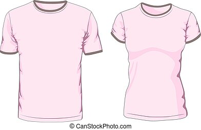 Male and female t-shirts. Vector illustration
