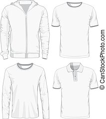 Set of male shirts. Vector illustration Eps 8.