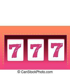 Slot Machine – Luck - Triple seven. Symbol of Luck. Vector...