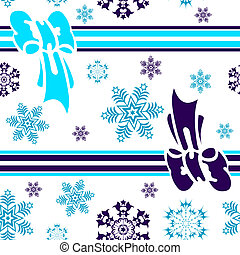Abstract seamless winter blue background