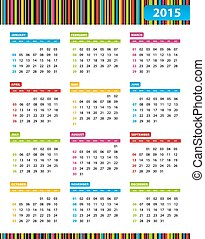 Annual Calendar for 2013 Year