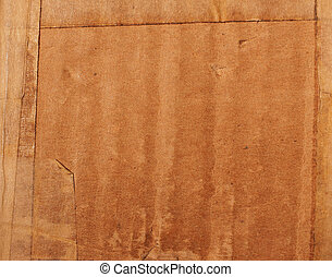 Corrugated cardboard - Grunge brown corrugated cardboard...