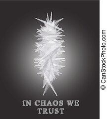 Chaos. Metamorphosis absrtact object. - Abstract objectc in...
